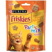 Petisco Friskies Party Mix Frango, Fígado e Peru para Gatos Adultos -Purina