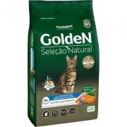 Alimento Seco Golden Seleção Natural Frango, Abóbora e Alecrim para Gatos Castrados -PremieR Pet