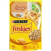 Alimento úmido Friskies Sachê Frango ao Molho para Gatos 85g -Purina