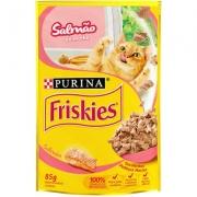 Alimento Úmido Friskies Sachê Salmão ao Molho para Gatos 85g -Purina