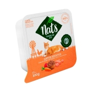 Ração Úmida Nats para Gatos Adultos Sabor Cubos de Frango com Vegetais 100 g