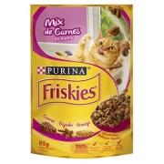 Alimento Úmido Nestlé Purina Friskies Sachê Mix Carne ao Molho para Gatos -85g