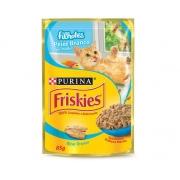 Alimento Úmido Nestlé Purina Friskies Sachê Peixe Ao Molho Para Gatos Filhotes - 85g