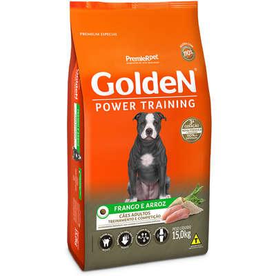 Alimento Seco Golden Power Training Cães Adultos Frango e Arroz -PremieR Pet