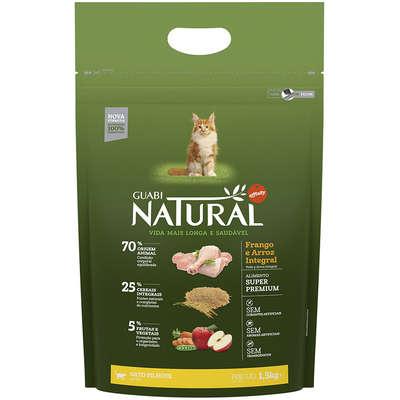 Alimento Seco Guabi Natural Frango e Arroz Integral para Gatos Filhotes -Affinity
