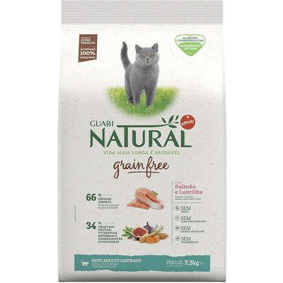 Alimento Seco Guabi Natural Grain Free Salmão e Lentilha para Gatos Castrados -Affinity