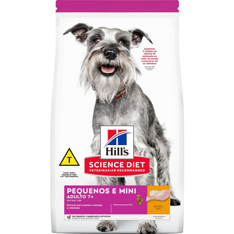 Alimento seco Hill's Science Diet para Cães Adultos 7+ Raças Pequenas e Miniatura