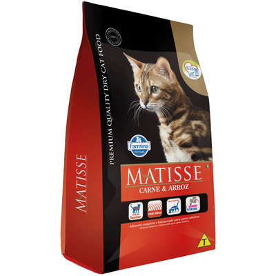 Alimento Seco Matisse Carne e Arroz para Gatos Adultos -Farmina