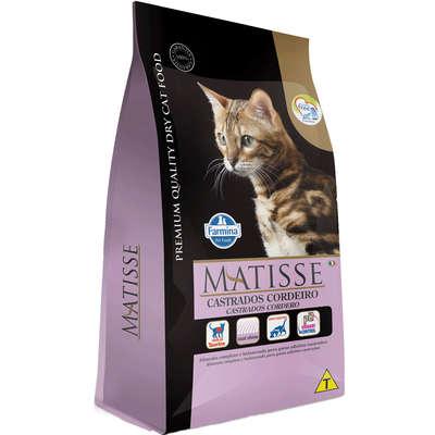 Alimento Seco Matisse Cordeiro para Gatos Adultos Castrados -Farmina