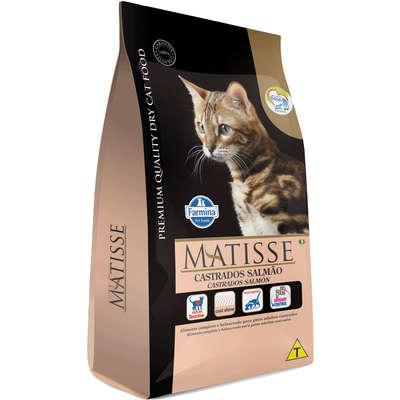 Alimento Seco Matisse Salmão para Gatos Adultos Castrados -Farmina