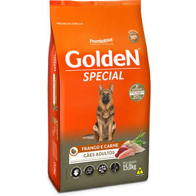 Alimento seco PremieR Pet Golden Special Cães Adultos Frango e Carne