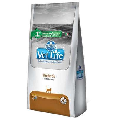 Alimento Seco Vet Life Diabetic para Gatos Adultos Diabéticos -Farmina