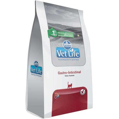 Alimento Seco Vet Life Gastro-Intestinal para Gatos Adultos com Dificuldades Digestórias -Farmina