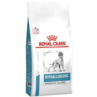 Alimento Seco Veterinary Hypoallergenic Moderate Calorie para Cães Adultos -Royal Canin
