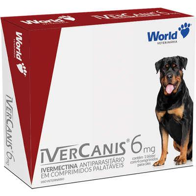 Antiparasitário World Veterinária IverCanis 6 mg para Cães de 30 Kg