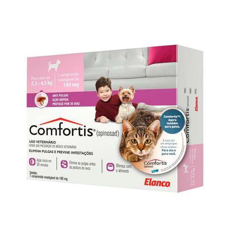 Antipulgas para Cães de 2,3 a 4,5kg e Gatos de 1,4 a 2,8kg-Comfortis Elanco