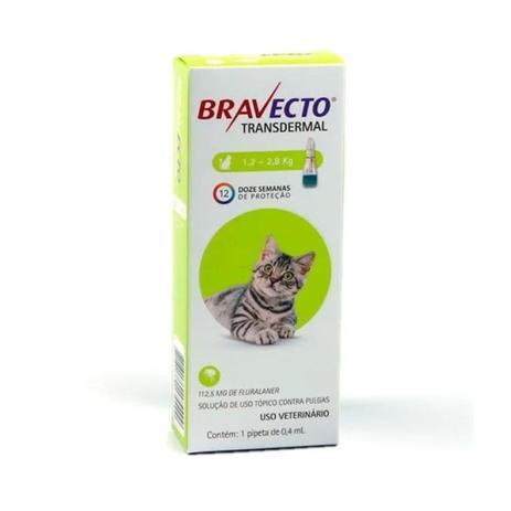 Antipulgas Transdermal MSD para Gatos 1,2 a 2,8kg- Bravecto