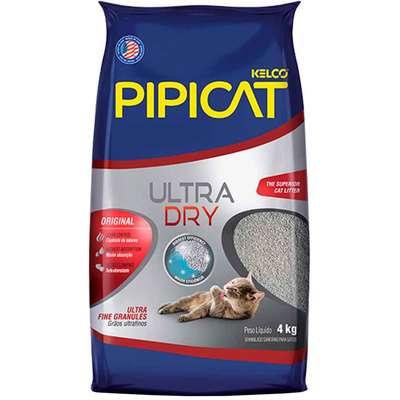 Areia Sanitária  Pipicat Ultra Dry 4kg -Kelco