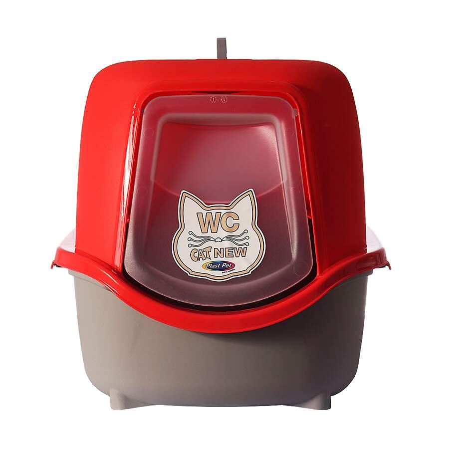 Banheiro para Gatos Cat Box New Vermelho -Plast Pet