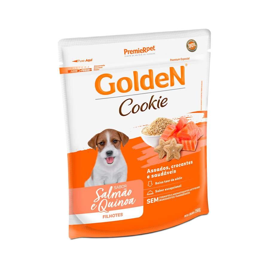 Biscoito Golden Cookie para Cães Filhotes Sabor Salmão e Quinoa 350 g -Premier Pet