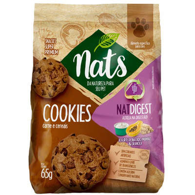Cookies NatDigest Carne e Cereais para Cães 65g -Nats