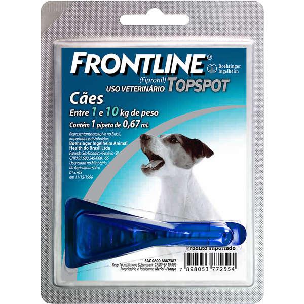 Frontline Top Spot para Cães de 1 a 10 Kg - Antipulgas e Carrapatos