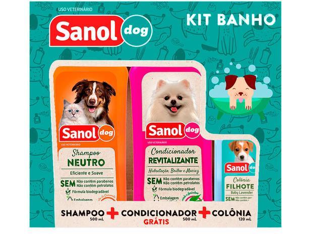 Kit  de Shampoo, Condicionador e Colônia -Sanol Dog