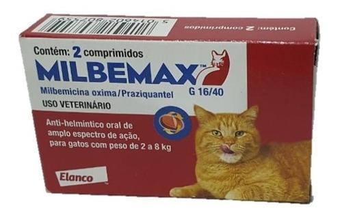 Milbemax Vermífugo Elanco Gatos 2 a 8 kg