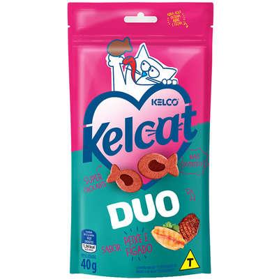 Petisco Kelcat Snacks Duo Peixe & Fígado -Kelco