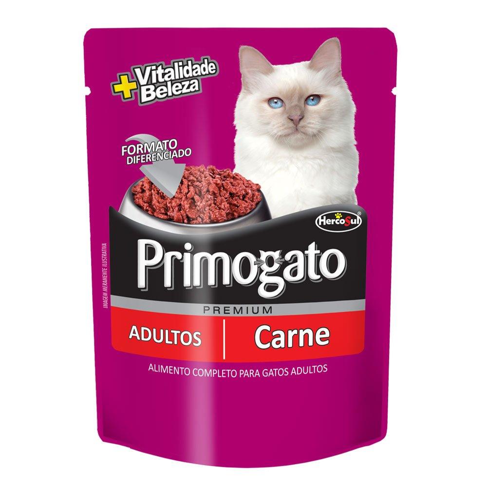 Alimento úmido Primogato  Sabor Carne -Hercosul