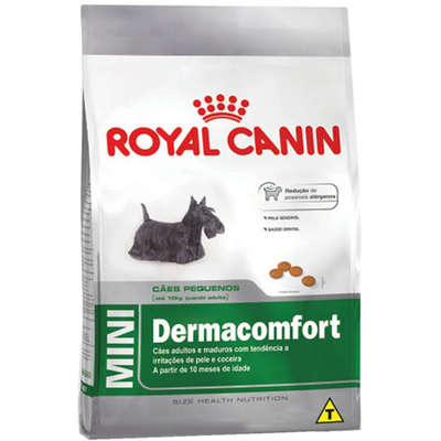 Alimento Seco Mini Dermacomfort para Cães Adultos ou Idosos de Raças Pequenas -Royal Canin