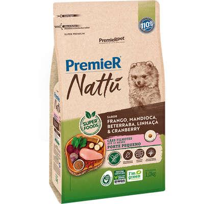 Alimento seco Nattú Mandioca para Cães Filhotes de Pequeno Porte -Premier pet