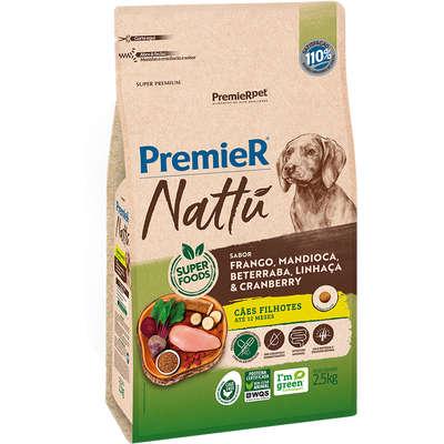 Alimento Seco Nattú Mandioca para Cães Filhotes -Premier pet