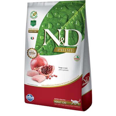 Alimento Seco N&D Prime Frango e Romã Gatos Adultos -Farmina