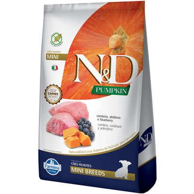 Alimento Seco N&D Pumpkin Carnes Nobres Cordeiro para Cães Filhotes de Raças Pequenas -Farmina