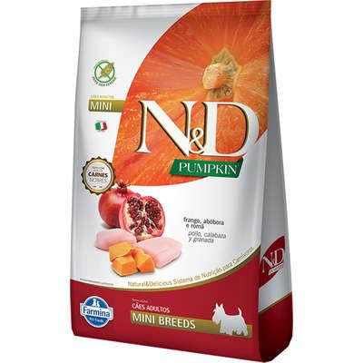 Alimento Seco N&D Pumpkin Carnes Nobres Frango para Cães Adultos de Raças Pequenas -Farmina