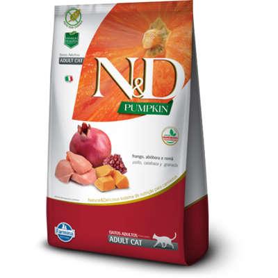 Alimento Seco N&D Pumpkin Frango, Abóbora e Romã para Gatos Adultos -Farmina