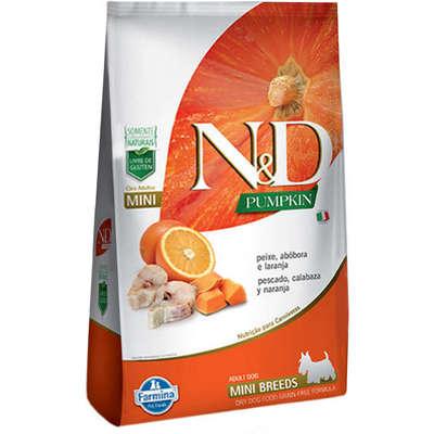 Alimento seco N&D Pumpkin Peixe para Cães Adultos de Raças Pequenas -Farmina