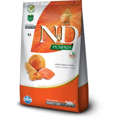 Alimento Seco N&D Pumpkin Salmão, Abóbora e Laranja para Gatos Adultos -Farmina