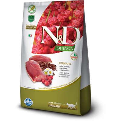 Alimento Seco N&D Quinoa Urinary Pato para Gatos Adultos -Farmina