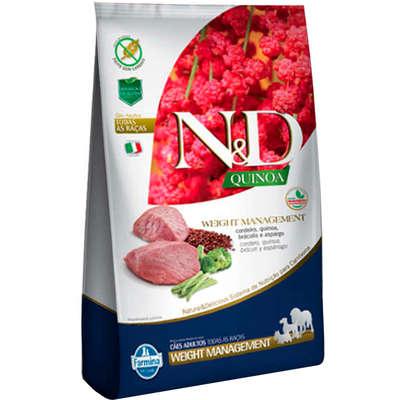 Alimento Seco N&D Quinoa Weight Management Cordeiro para Cães Adultos de Todas as Raças -Farmina