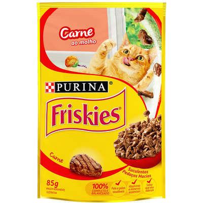 Alimento úmido Friskies Sachê Carne ao Molho para Gatos 85g -Purina