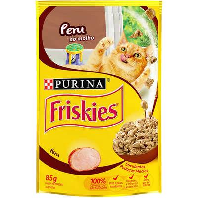 Alimento úmido Friskies Sachê Peru ao Molho para Gatos 85g -Purina