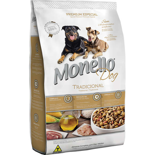 Alimento seco para Cães Adultos - Monello Dog Tradicional - Nutrire