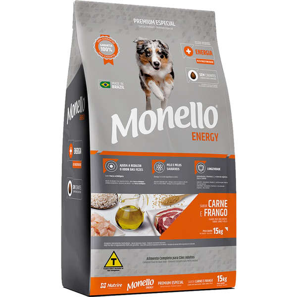 Alimento seco para Cães Adultos - Monello Energy (15kg) - Nutrire
