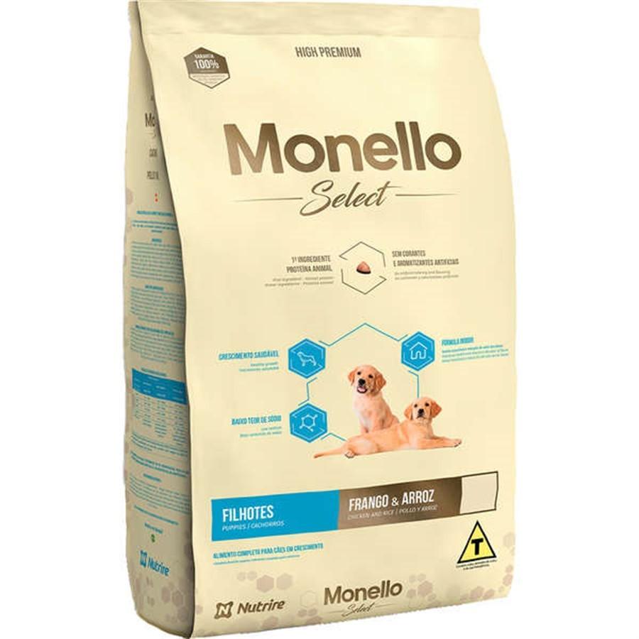 Alimento seco para Cães Filhotes Monello Select (Frango e Arroz) - Nutrire