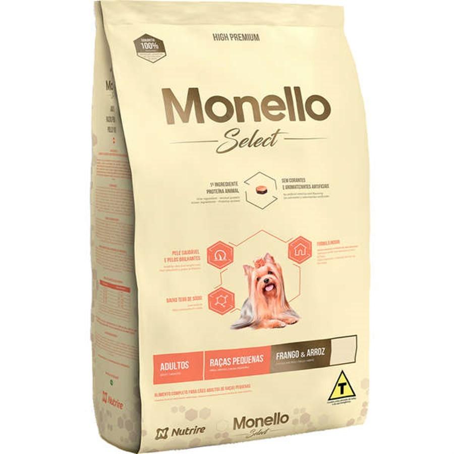 Alimento Seco para Cães Raças Pequenas Monello Select (Frango e Arroz) - Nutrire