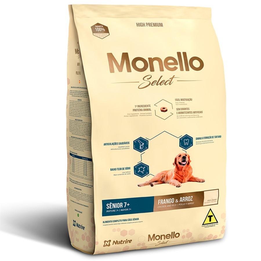 Alimento seco para Cães Sênior 7+ - Monello Select (Frango e Arroz) - Nutrire