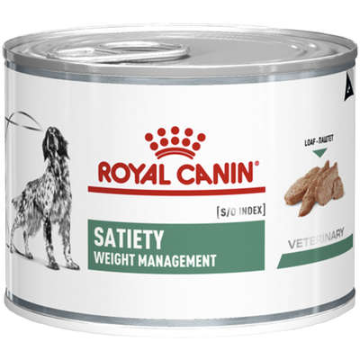 Alimento Seco Lata Canine Veterinary Diet Satiety Support Wet para Cães Adultos Obesos 195 g -Royal Canin
