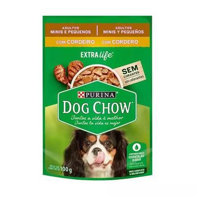 Alimento Úmido Dog Chow Sachê para Cães Adultos de Raças Pequenas Sabor Cordeiro 100g